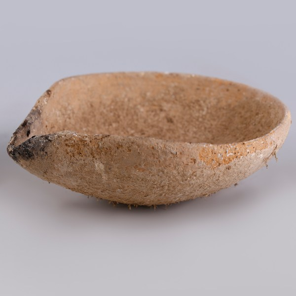 Holy Land Single Pinched Terracotta Oil Lamp