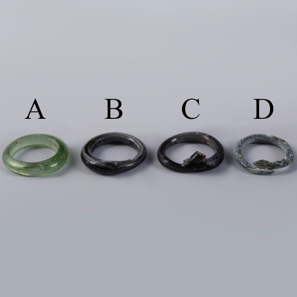 Selection of Ancient Roman Glass Rings