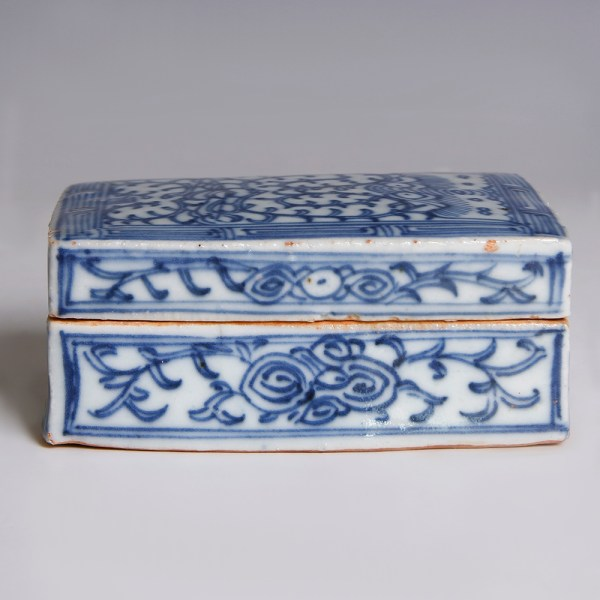 Chinese Qing Dynasty Blue and White Box
