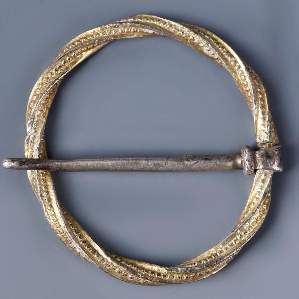 Medieval Annular Brooch with Original Pin