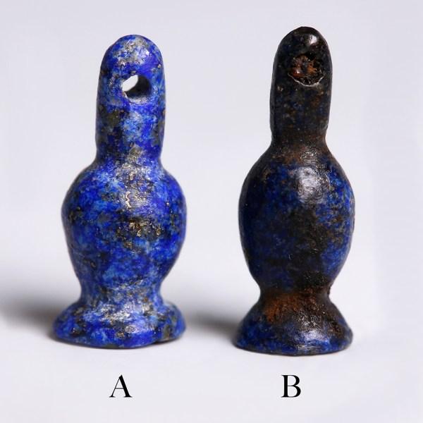 Selection of Ancient Egyptian Lapis Lazuli Poppy Amulets