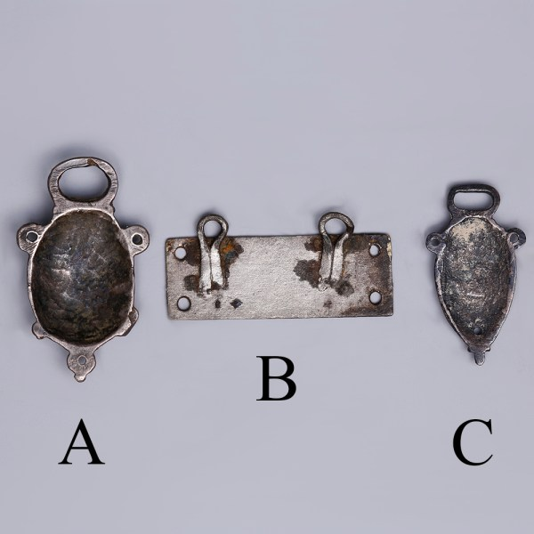 Selection of Tudor Silver Clothing Fasteners