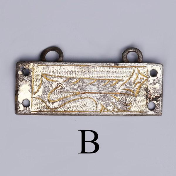 tudor silver clothes fasteners b