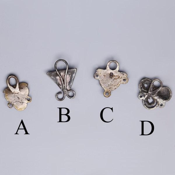Tudor Silver Clothing Fasteners