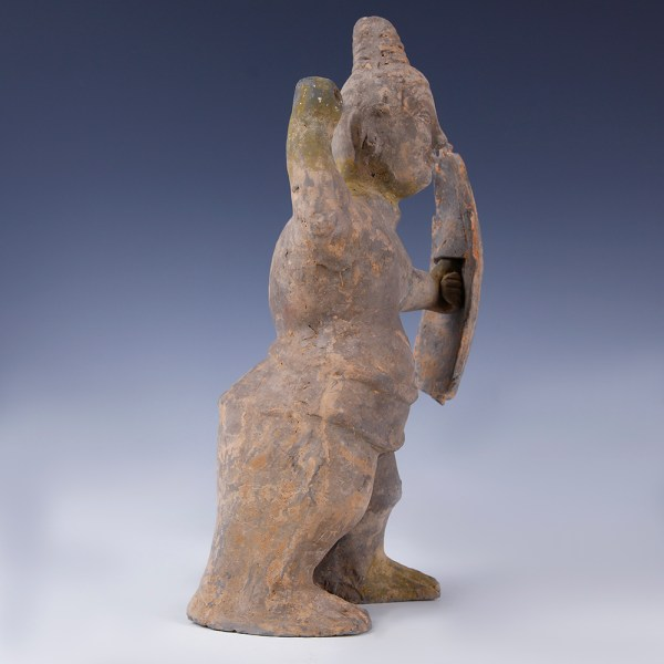 Eastern Han Dynasty Warrior Figure with Pigments