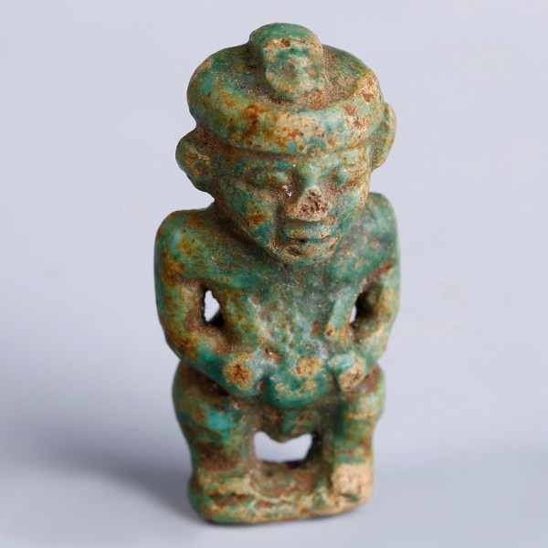 Egyptian Ptaichos Faience Amulet