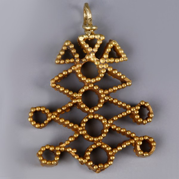 Near Eastern-Western Asiatic Gold Pendant with Granules