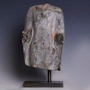 Chinese Sui Dynasty Grey Fragmentary Torso of a Buddhist Deity