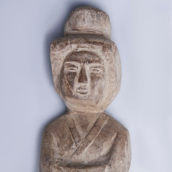 Han Dynasty Carved Wood Female Attendant
