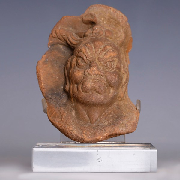 Chinese Pottery Face of a Lokapala