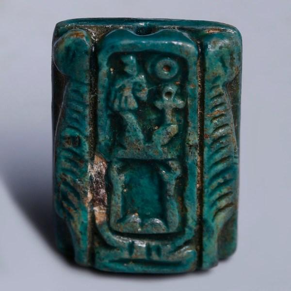 Egyptian Bead with Queen Hatshepsut Royal Cartouche