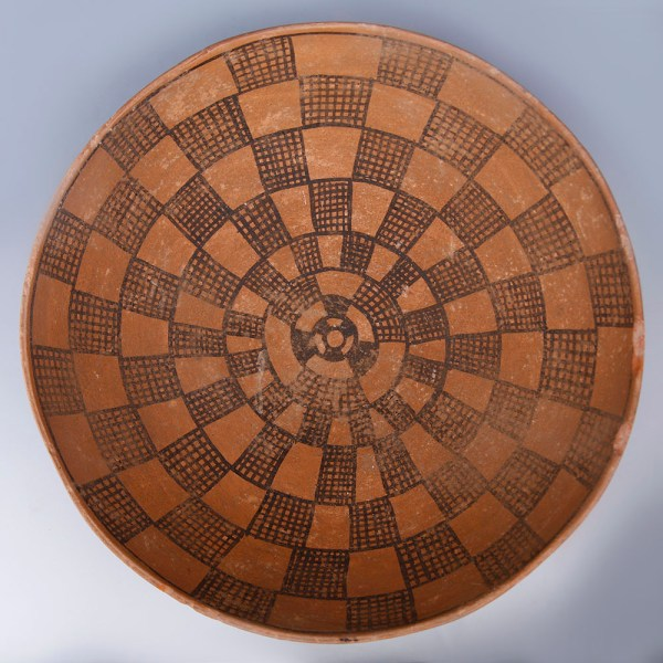 Indus Valley Terracotta Bowl with Geometrical Motif