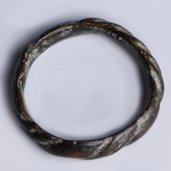Medieval-Viking Ring with Twisted Motif