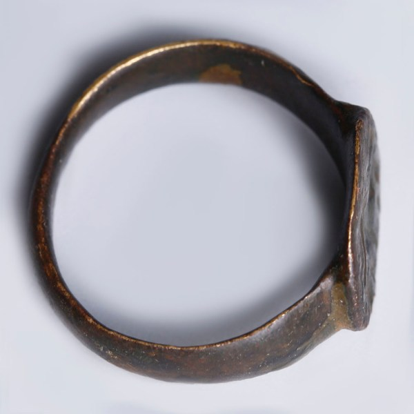 Roman Bronze Ring with Mythological Intaglio