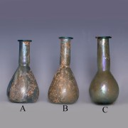 Selection of Roman Glass Bottles