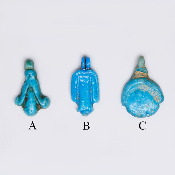 Selection of Egyptian Blue Faience Amulets