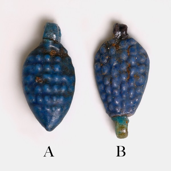 Selection of Egyptian Faience Grape Amulets