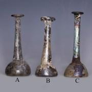 Selection of Roman Iridescent Candlestick Unguentaria