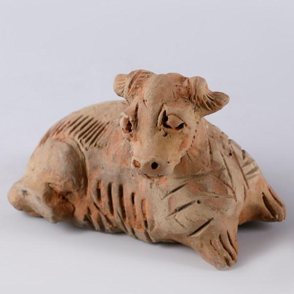 Yuan Period Terracotta Mingqi of an Ox