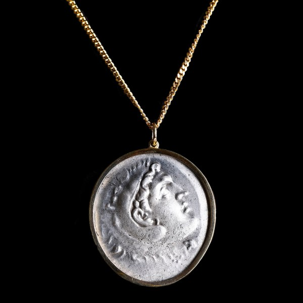 Alexander the Great Silver Tetradrachm Pendant