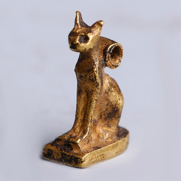 Ancient Egyptian Gold Bastet Amulet