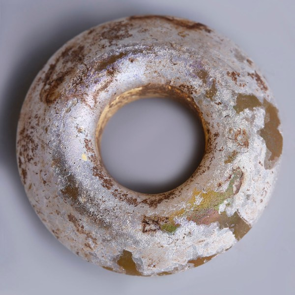 Ancient Roman Glass Spindle Whorl