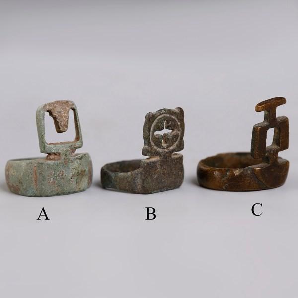 Selection of Roman Bronze Key Rings