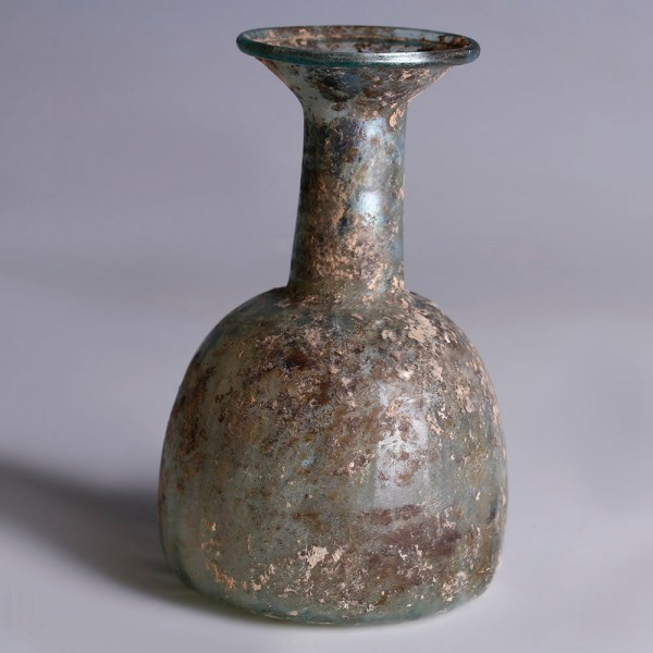 Roman Grey Glass Bottle