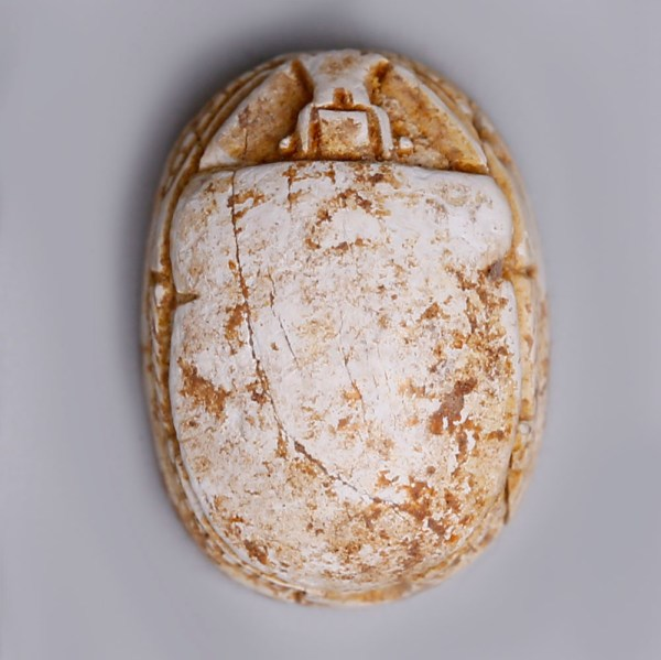 Egyptian Steatite Scarab with a Winged Beetle