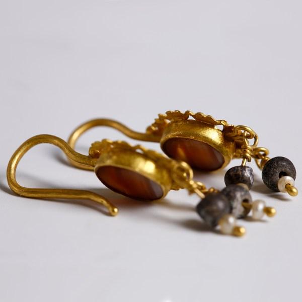 Beautiful matching pair of Roman Earrings