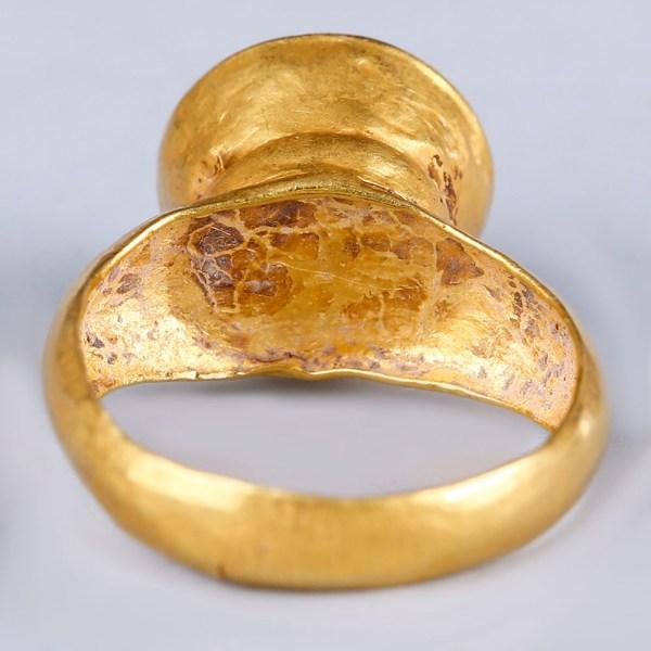Western Asiatic-Near Eastern Ring with Amethyst Intaglio