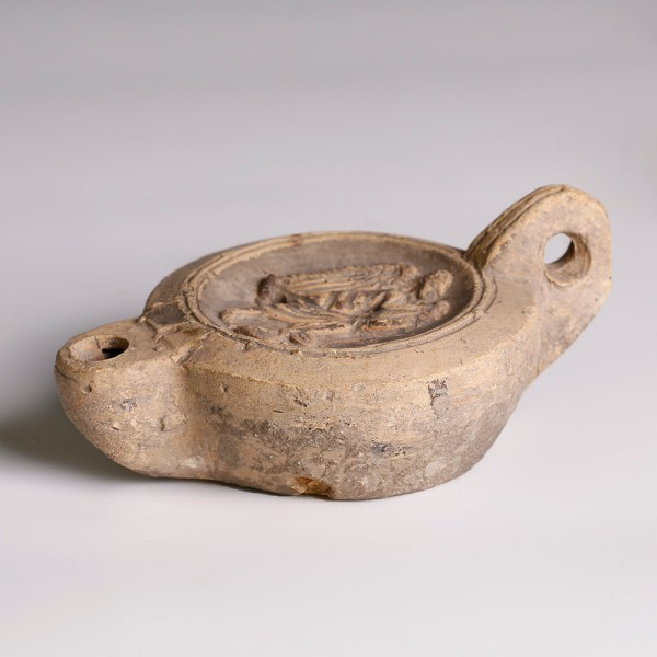 Roman Terracotta Oil Lamp with Victory