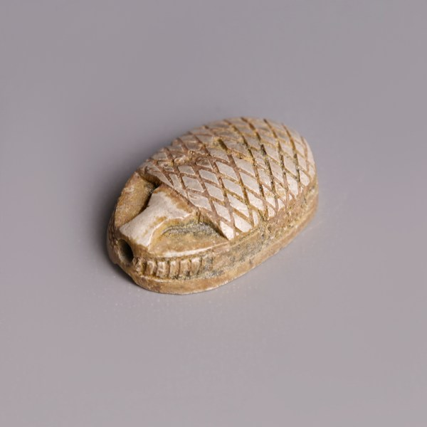 Egyptian Steatite Scarab with Geometric Patterns