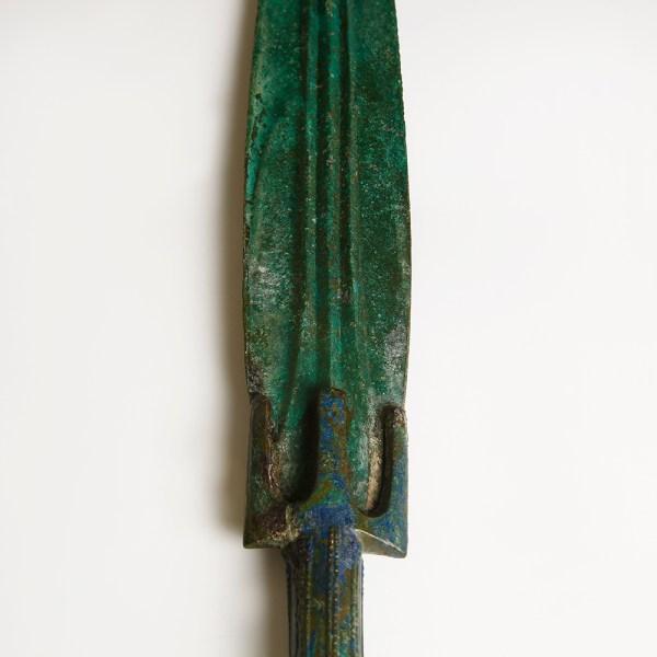 Luristan Bronze Long Sword with Stabbing Hilt