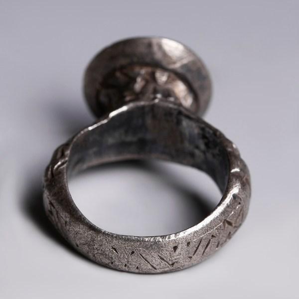 Byzantine Silver Ring with Fleur-de-Lis