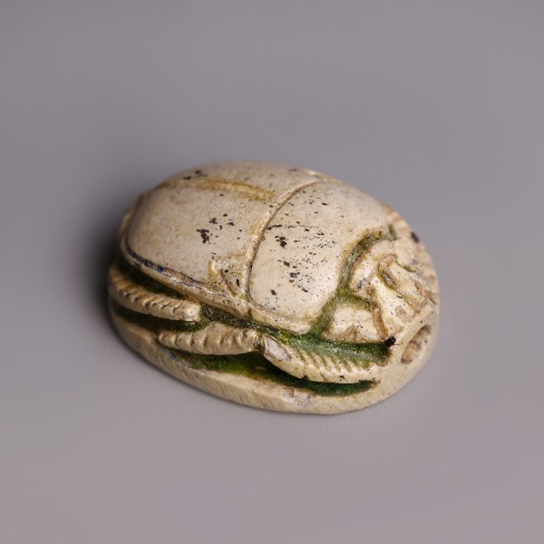 Egyptian Steatite Scarab Dedicated to Thutmosis IV