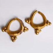 Near Eastern-Western Asiatic Pair of Gold Earrings