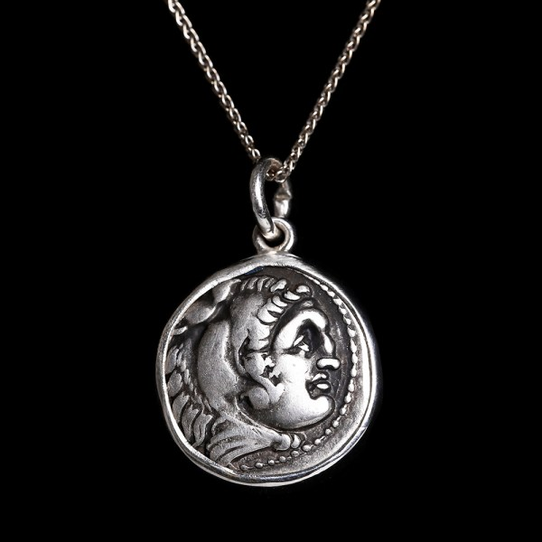 Alexander the Great Silver Drachm Pendant