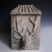 Eastern Han Dynasty Earthenware Tomb Tile with Moulded Deer Head