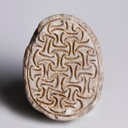 Egyptian Steatite Scarab with Coil Pattern