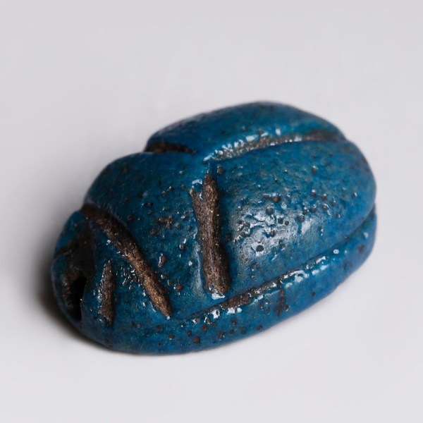 Egyptian Turquoise Faience Amulet Dedicated to Ra