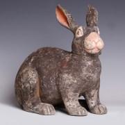 Chinese Han Terracotta Rabbit Figurine