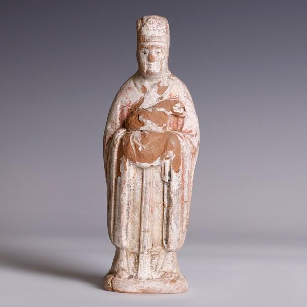 Chinese Ming Unglazed Polychrome Zodiac Figurine
