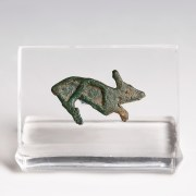 Ancient Roman Bronze Hare Brooch