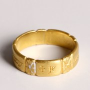 Medieval Gold Posy Ring with French Inscription