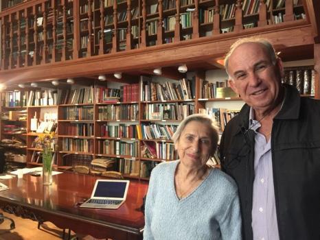 Eli Rabinowitz with Fania Brancovskaja, Vilnius, Lithuania