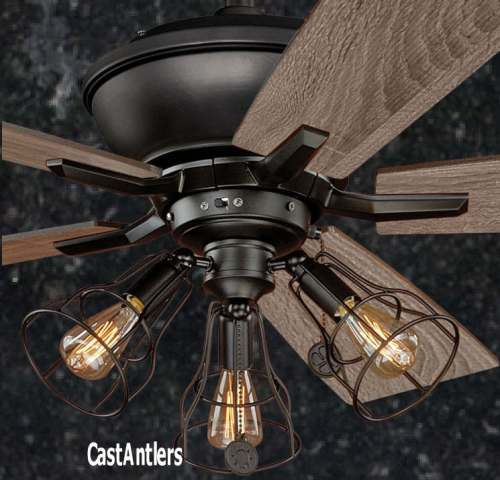 52 Inch Rustic Edison Industrial Ceiling Fan With Cage Light   eBay Height of the fan is 21    Remote control adaptable   it does not come with  a remote    we offer them for  66