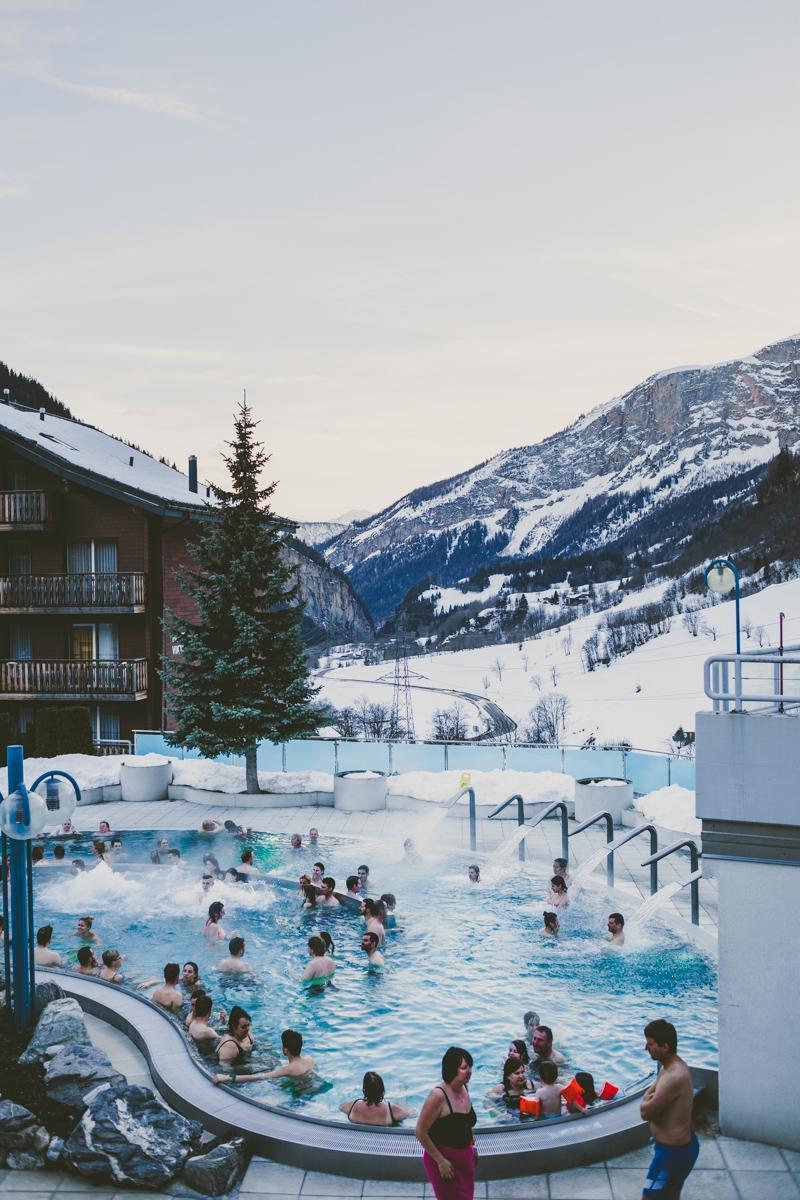Nakna landskap i schweiz