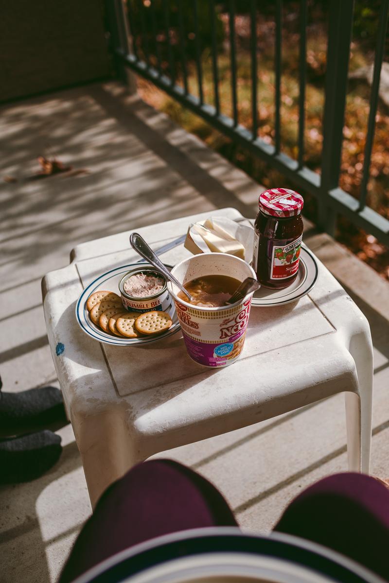 frukost balkong yosemite view lodge