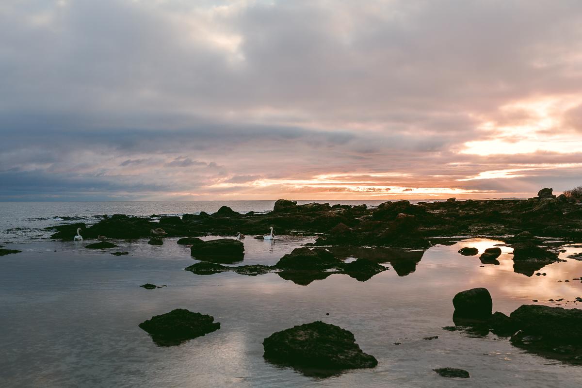 solnedgång vid fårö fyr